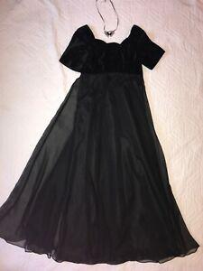 Regency Jane Austen dress gown costume size 6 Emma black Theater stage