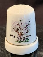 Thimble Apple Tree Porcelain Sewing Collectible Thread Needle Crafting Vintage