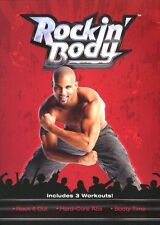 Rockin' Body - Rock it Out, Hard Core Abs, Booty Time (DVD, 2008) Shaun T MINT!