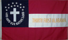 American Civil War Flag, CSA Southern Flag, Stars and Bars.....31st Alabama