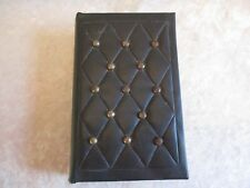 Vintage Faux Leather Covered Book-Shaped Hong Kong Trinket Box