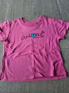Girls ANIMAL Surfing T Shirt - XS - Age 5-6