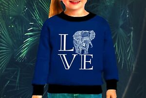 love elephant girls sweatshirt shirt girls cotton fleece girls sweatshirt