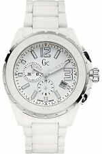 Guess Collection GC Men's XXL Phantom White Ceramic Case Band Watch - X76012G1S