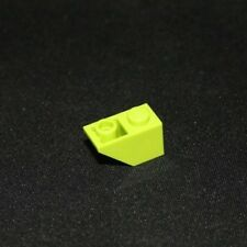 Lot x2 Lego - Brique Toit (vert claire) Roof Brick 1x2 (light green) - 6030276 -