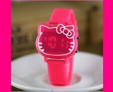 Hello kitty WATCH - Digital face Led Dark Pink so cute Kawaii NEW