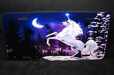UNICORN HORSE METAL NOVELTY LICENSE PLATE TAG FOR CARS...