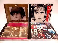 Lot of 4 U2 CD's ♫ Unforgettable Fire ♫ War ♫ Achtung Baby ♫ Best Of 1980-1990