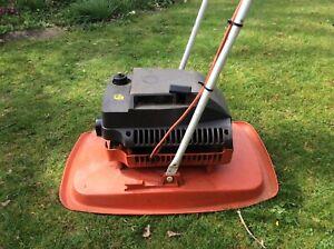 """FLYMO 15"""" petrol 2 stroke hover mower good working order lawnmower"""
