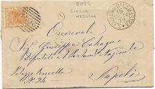 P8592   Messina, S.stefano di Camastra, annullo numerale a sbarre, 1879