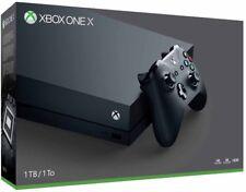 New Microsoft Xbox One X 1TB Black Console