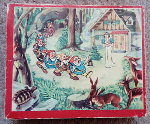 SNOW WHITE & THE SEVEN DWARFS - Cube Block Puzzle - Boxed - Czech - Disney