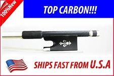 Top Graphite Carbon Fiber Violin Bow 4/4  Fleur-de-lys