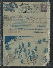 NORWAY  (PP2806B) 1900 SPITTSBERGEN PSC CARD SENT FROM PARIS TO NORWAY