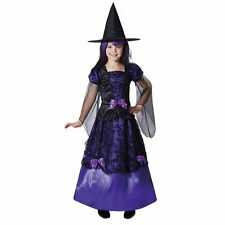 NWT Totally Ghoul Mystical Witch deluxe purple Halloween Costume girl's L