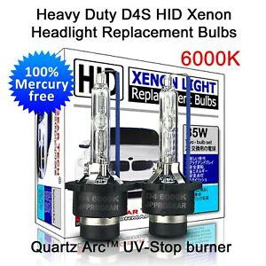 Heavy Duty 6000K D4S D4R OEM HID Bulbs for Toyota Camry Corolla Mazda Subaru