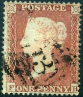 1854 SG17 1d Red Plate 179 (FH) C1 Wmk SC PERF 16 c£38.00