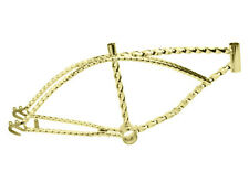 "New 20"" Beach Cruiser Bike Bicycle Lowrider Chopper Twisted Frame Gold"