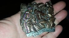 "UNIQUE MEDAL ""OLD FIREHAND"" WESTERN COWBOY TYPE SCENE WILD WEST"