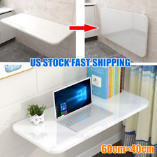 US Wall Mount Floating Foldable Computer Desk  Office Notebook Table 60cm*40cm