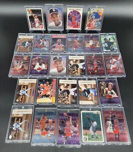 Huge Michael Jordan Basketball 26 Card Lot Including Mag & Screw Down Cases