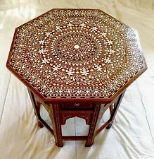 Indian Octagonal Table ,occasional Table Solid Rosewood 18""