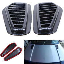 Car Air Flow Intake Scoop Turbo Bonnet Vent Cover Hood Fender Carbon Fiber Style