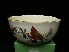 LENOX WINTER GREETINGS SCALLOPED EDGE BOWL CATHERINE MCCLUNG
