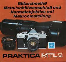 DRESDEN, Werbung 1978, Spiegelreflexkamera PRAKTICA MTL3