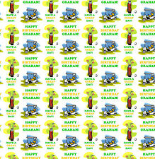 Personalised Gift Wrapping Paper GOLF Birthday Any Name! Large Sheet!