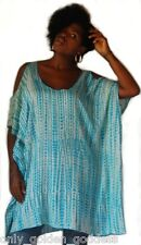 turquoise poncho top blouse hole shoulder  m l xl 1x sexy flirty  lovely