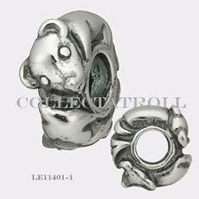 Authentic Trollbeads Silver Rat Bead Trollbead RETIRED  LE11401-1  TAGBE-40069