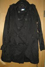 Desigual leichte Jacke Sommerjacke Trench Kurztrench schwarz Gr. 46 wie 38 40 42