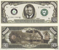 Two Theodore Roosevelt 26th US President Novelty Bills # P26