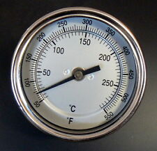 """3"""" BBQ CHARCOAL GAS ELECTRIC GRILL SMOKER PIT THERMOMETER 50-550 F&C 4"""" stem"""