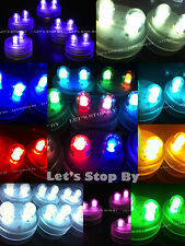20 Bright Dual LED Floral Tea Light Submersible Floralyte Wedding decor Supplies