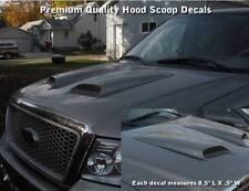 "5.4L Ford Triton F150 F250 Chrome Decals Set Hood Scoop 8.5"" Length Premium WOW!"