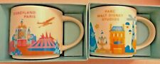 Disneyland Paris & Walt disney studio Mug Starbucks You Are Here Parc YAH Rare