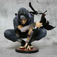 Anime Naruto Shippuden Uchiha Itachi Figure Squat PVC Action Figure Statue