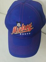 Mickey Mouse Disney Baseball Cap Hat  Adult Size Blue