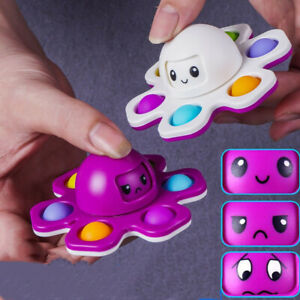 New Octopus Keychain Push Bubble Stress Relief Pop It autism sensory Fidget Toy