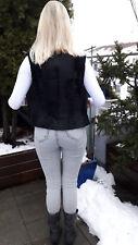 Leichte Schwarze Persianer Breitschwanz Weste Größe 32 Felljacke Pelzweste