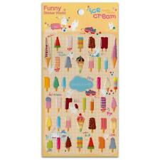 CUTE ICE CREAM STICKERS Dessert Food Epoxy Gel Sticker Sheet Craft Scrapbook
