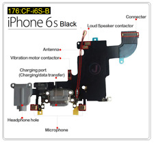 For iPhone 6s Charging Port Replacement Charger Flex Cable USB Mic OEM