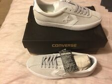 Brand New In Box CONVERSE CONS BREAKPOINT OX SUEDE TRAINERS Mouse White SIZE 7