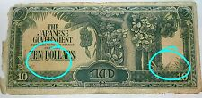MALAYA JAPANESE OCCUPATION $10 ERROR NO BLOCK LETTER