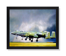 A-10 Thunderbolt Jet Airplane Wall Picture Black Framed Art Print