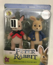 New Peter Rabbit & Flopsy Poseable Figure Set Official Movie Collectible Toy