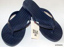 BILLABONG NEW SUMMER DAZED Ladies Flip Flops Thongs Sandals Peacoat Black Berry