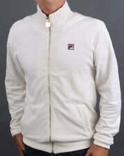 Fila Vintage Men's Velour Track Top Cream - Irving Tracksuit Jacket